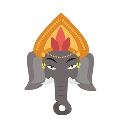 ethnic patterned head indian elephant on the vector image