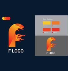 F logo inspiration template design vector