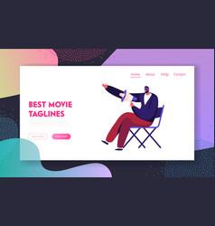 Filmmaking activity website landing page vector