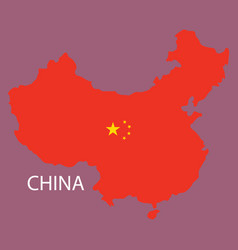 flag map of republic of china vector image