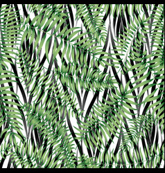 floral geomtric tile pattern tropical leaves vector image