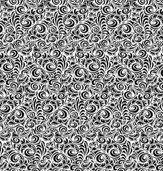 Floral vintage seamless pattern on light vector image