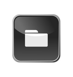 folder icon on a square button vector image