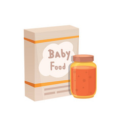 food for baby cartoon products set vector image