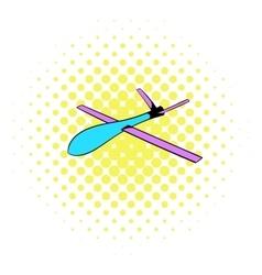Glider icon comics style vector