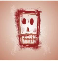 grunge skull face vector image