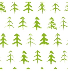 Grungy chrismas tree seamless pattern vector