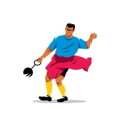 Hammer throw Cartoon vector image
