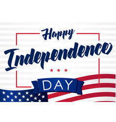 happy independencel day 4 july light banner vector image