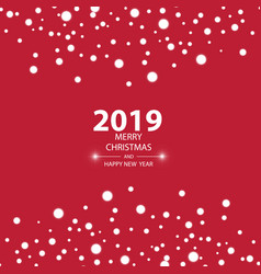happy new year 2019 background with snow vector image