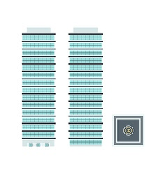 High-Rise Building - Template for Creation vector