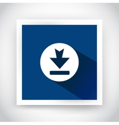 Icon of download for web and mobile applications vector