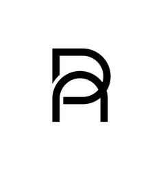 Initial letter da ad r logo design template vector