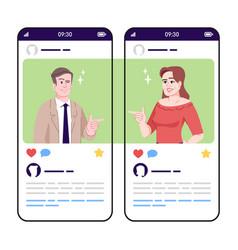 Joking talk flirtation social media posts vector