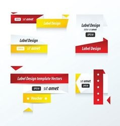 LABEL DESIGN Origami styles vector image