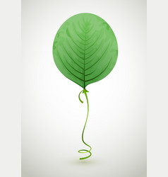 leaf air balloon green eco concept vector image