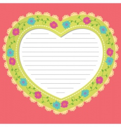 love frame vector image vector image