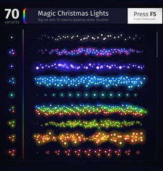 Magic Christmas Lights vector