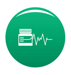 Medicament icon green vector