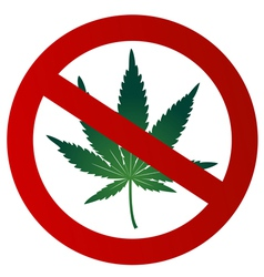 No drugs sign vector image