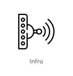 Outline infra icon isolated black simple line vector