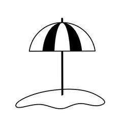 Parasol on sand icon image vector
