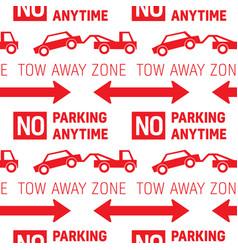 Parking restriction road sign pattern vector