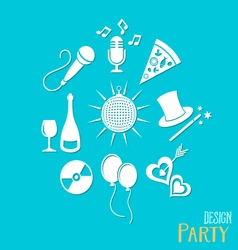 Party and entertainment icons vector image