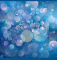 Pink and blue starry glitter cold toned bokeh vector