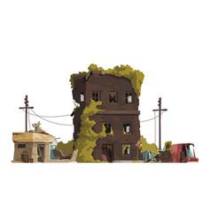 Post apocalypse city vector