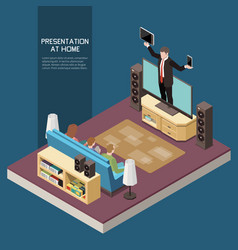 presentation at home concept vector image