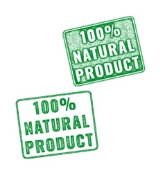 Realistic 100 Natural Product rubber stamp vector image