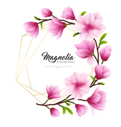 realistic magnolia flower vector image
