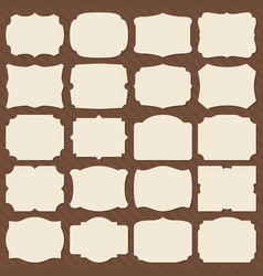 Retro blank paper label shapes vintage elegant vector