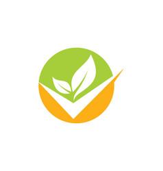 Round organic check logo vector