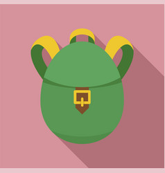 rucksack icon flat style vector image