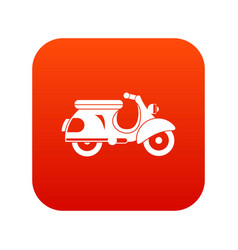 scooter icon digital red vector image