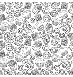 Seamless pattern with hand drawn doodle vector