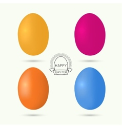 set colorful easter eggs vector image