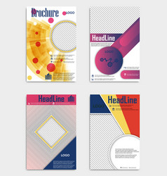 Set of template design layout brochure geometric vector