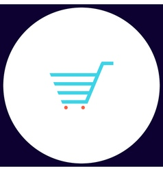 Shopping cart computer symbol vector