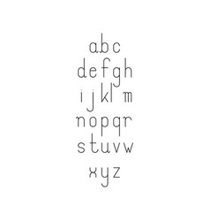 Simple minimalistic thin line font with lowercase vector