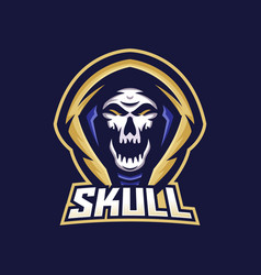 skull esport gaming mascot logo template vector image