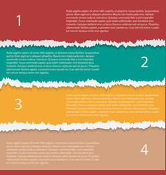torn paper options infographic template vector image