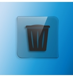 trash can icon vector image