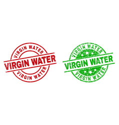 Virgin water round stamp seals using unclean style vector