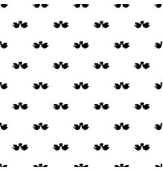 wedding doves heart pattern seamless vector image