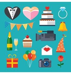 Wedding flat icon vector
