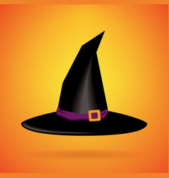 witch hat isolated background happy halloween vector image