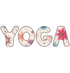 yoga love painted vintage vector image